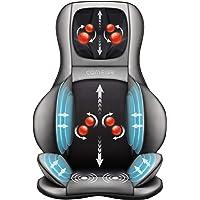 Masajeador de cuello y espalda Comfier Shiatsu – Masajeador de espalda completa 2D/3D con calor y compresión de aire…