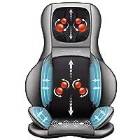 Comfier Shiatsu Neck & Back Massager – 2D/3D Kneading Full Back Massager with Heat...