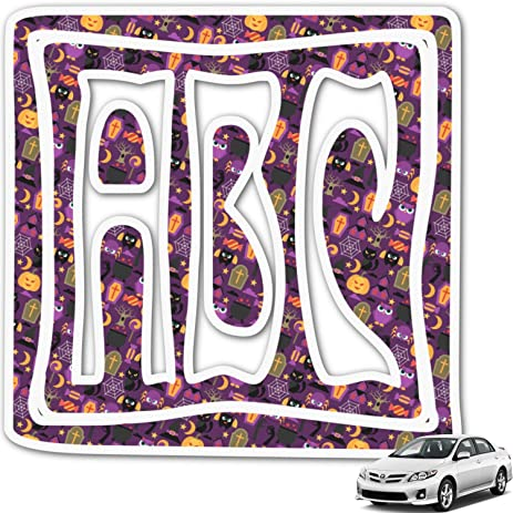 Amazoncom Halloween Monogram Car Decal Personalized Automotive - Monogram car decal amazon
