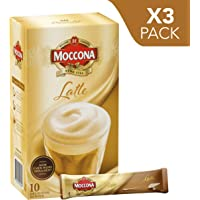 Moccona Instant Coffee Latte - 10 Individuals Sachets (150g x 3 Packs)