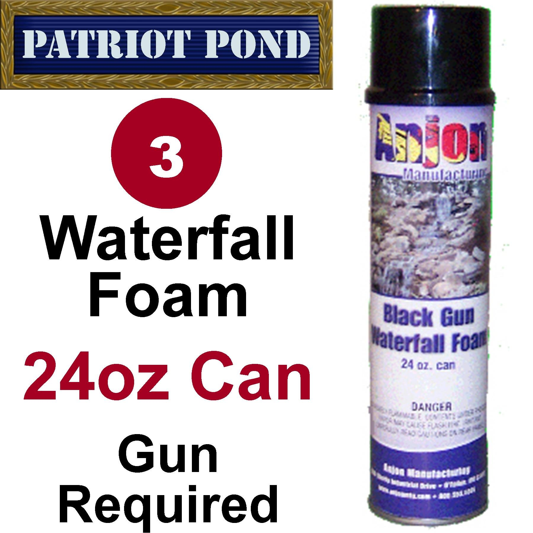 Patriot 24oz Can Waterfall Foam (3) Pack Special for Waterfall Foam Guns by Patriot