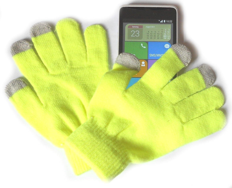 PRESKIN - Handschuh (One size, kleine Größe) mit Smartphone Funktion für Damen, Kids, Teenager, NEON Handy Gloves für Tablet Phone Handy für Samsung Apple iPhone HTC Huawei Nokia PRESKIN Handschuh (One size