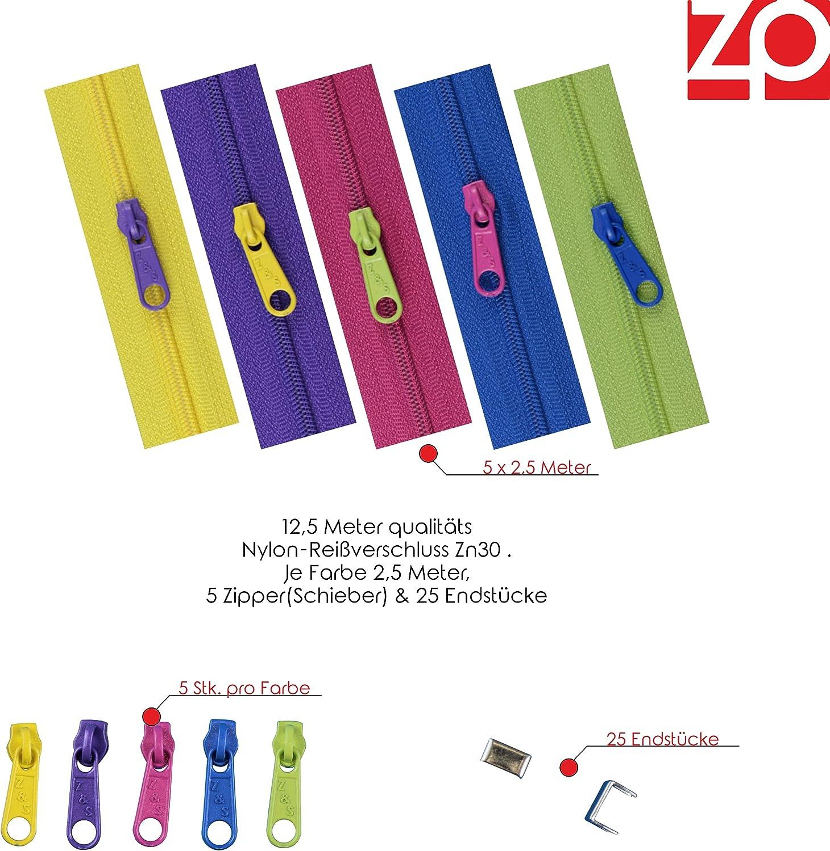 1 m 1 EUR//M col.39 3 Zipper Endlos-Reißverschluss 3mm schwarz
