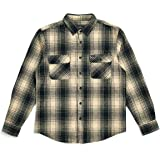 BRIXTON (ブリクストン) ネルシャツ BOWERY L/S FLANNEL - BLACK/BONE