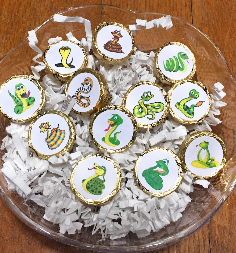 324 Snake Party Favor Labels Snake Party Decoration Snake Stickers for Hershey Kisses Funny Snake Birthday Supplies Labels