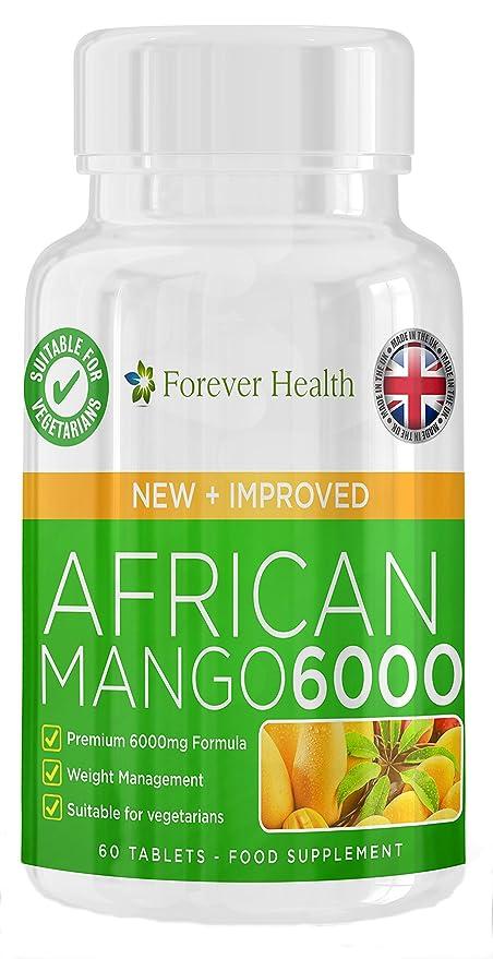 AFRICAN MANGO 6000 * MAX Fuerza Quemador De Grasa * 60 Tabletas 6000mg Muy Fuerte Dieta