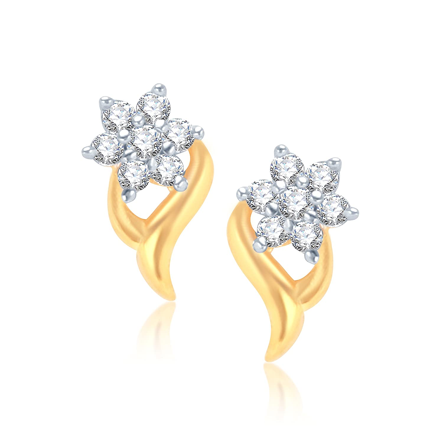 Buy VK Jewels Shinning Star Gold And Rhodium Plated Alloy Earrings ...