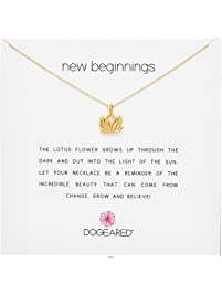 Dogeared Reminders New Beginnings Rising Lotus Pendant Necklace, 18.4