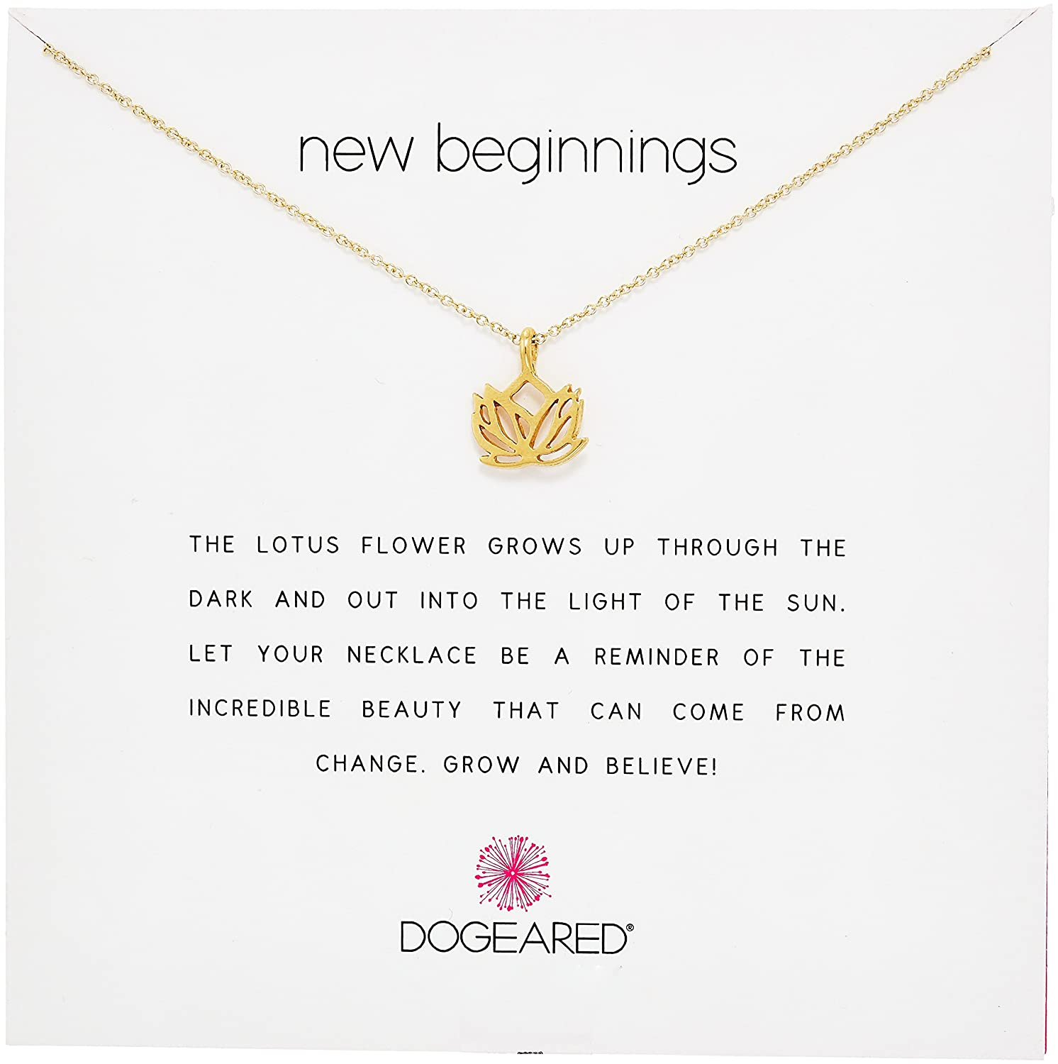 Amazon dogeared reminders new beginnings rising lotus gold amazon dogeared reminders new beginnings rising lotus gold charm necklace 16 w2 jewelry izmirmasajfo