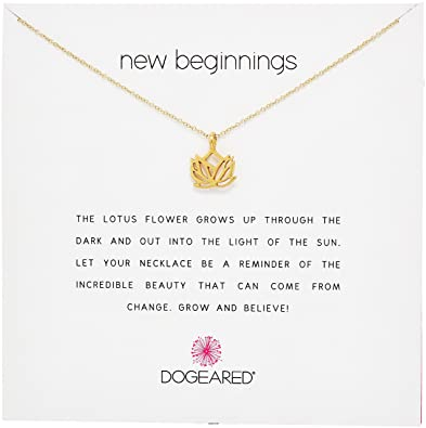 Amazoncom Dogeared Reminders New Beginnings Rising Lotus Gold
