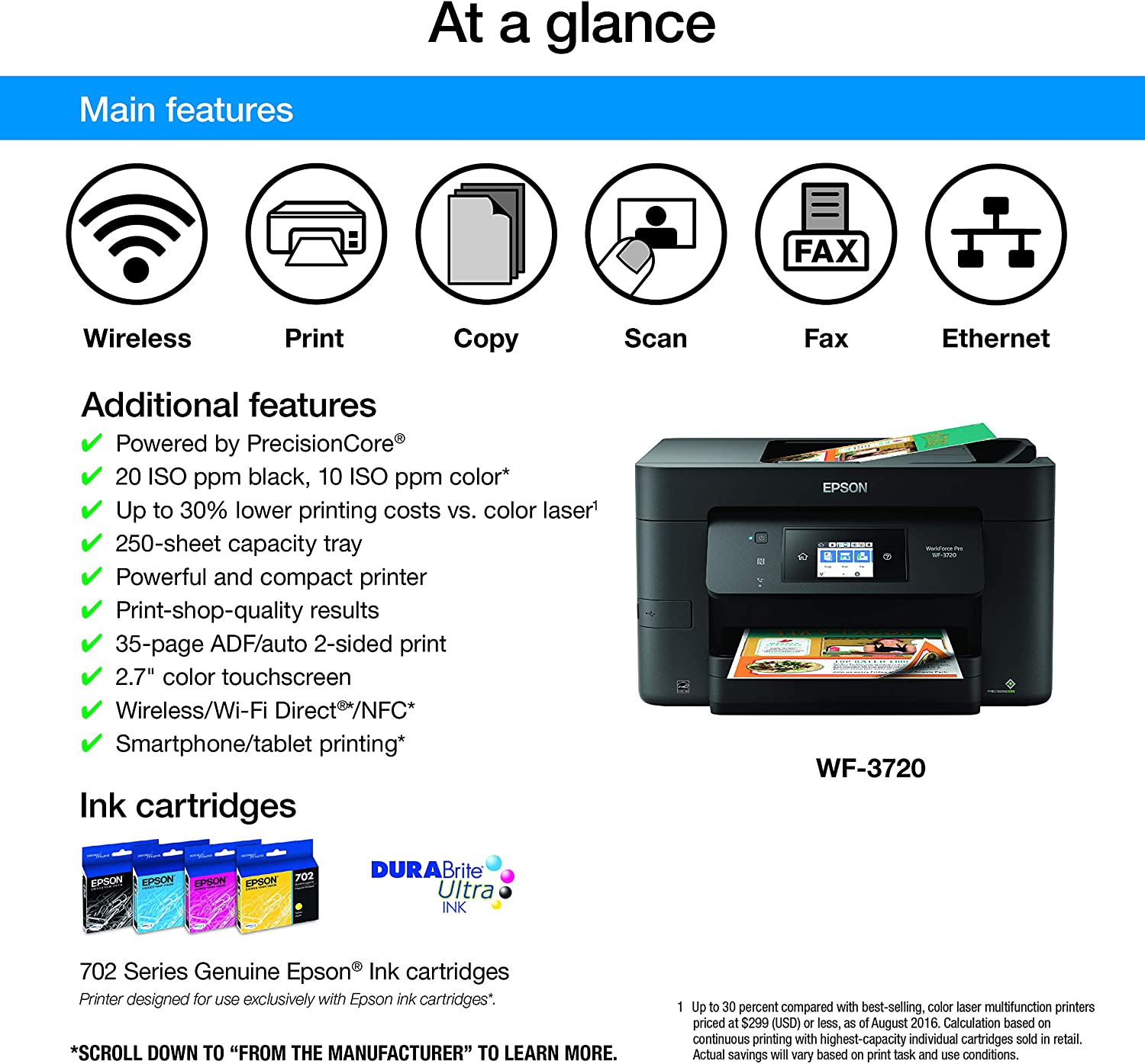 Amazon.com: Epson WorkForce Pro WF-3720 Impresora todo ...