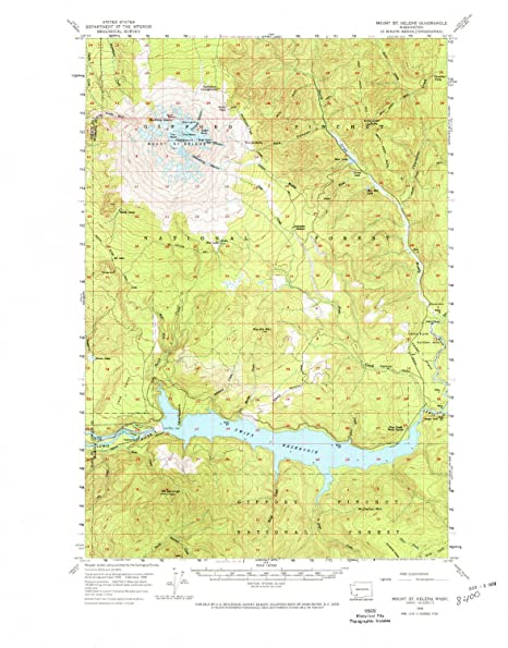 Mt St Helens Washington Map.Amazon Com Yellowmaps Mt St Helens Wa Topo Map 1 62500 Scale 15 X