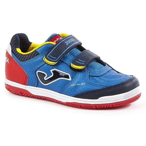 Joma Top Flex Velcro Niño, Zapatilla de fútbol Sala, Blue: Amazon.es: Zapatos y complementos
