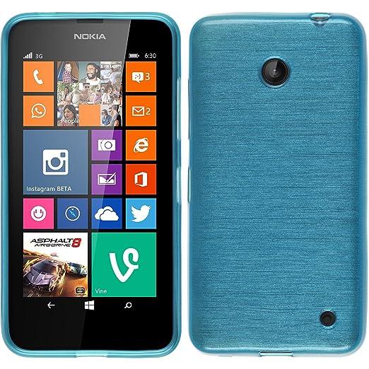 38 opinioni per PhoneNatic Custodia Nokia Lumia 630 Cover blu brushed Lumia 630 in silicone Case