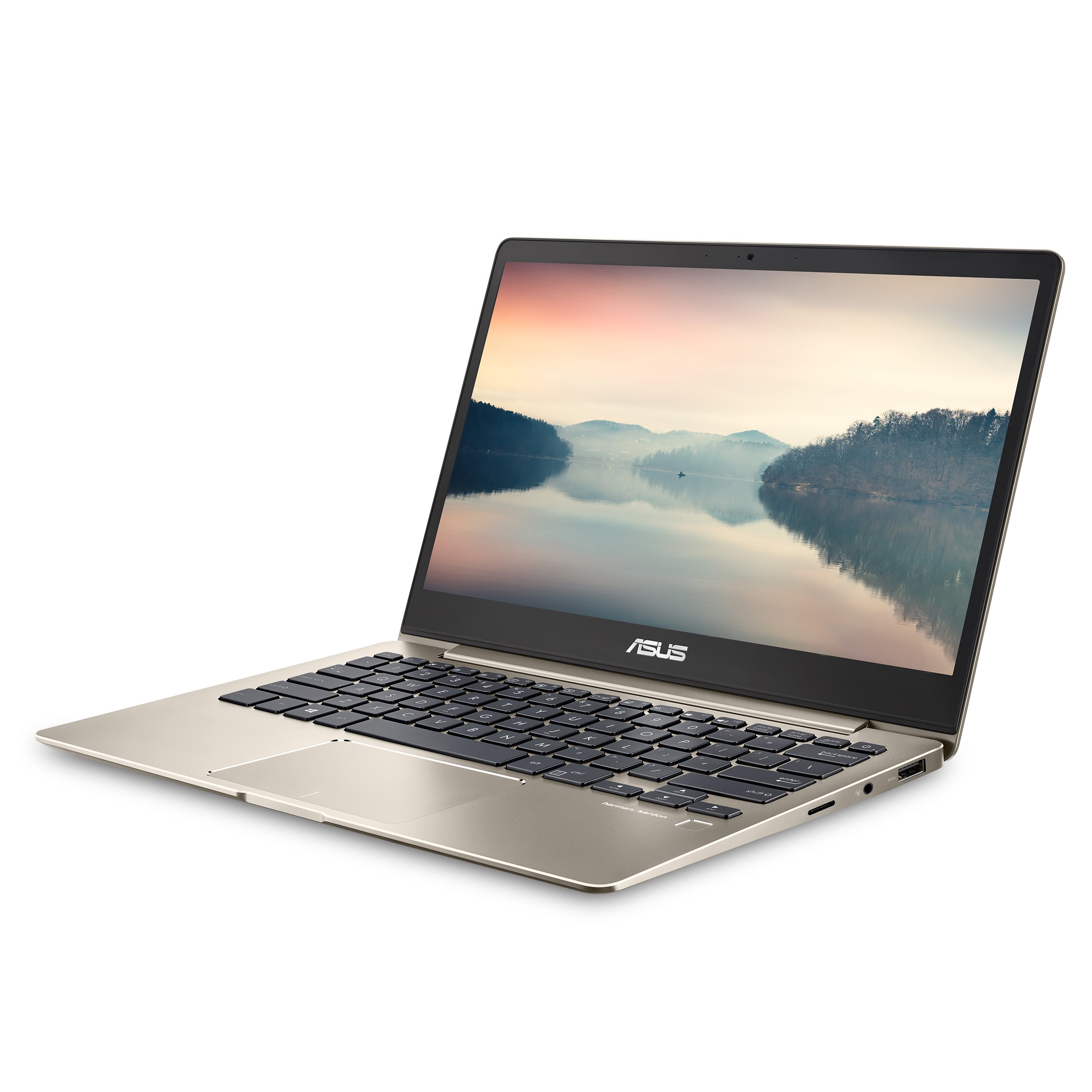 ASUS ZenBook 13 Ultra-Slim Laptop 13.3'' FHD Display, Intel 8th gen Core i5-8250U, 8GB RAM, 256GB M.2 SSD, Win10, Backlit KB, FP, Icicle Gold, UX331UA-AS51 by ASUS (Image #1)