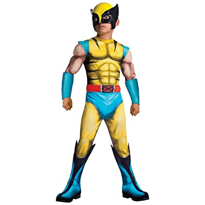 Rubie's 880782_M Marvel Classic Universe Child's Deluxe Muscle-Chest Wolverine Costume, Medium: Toys & Games