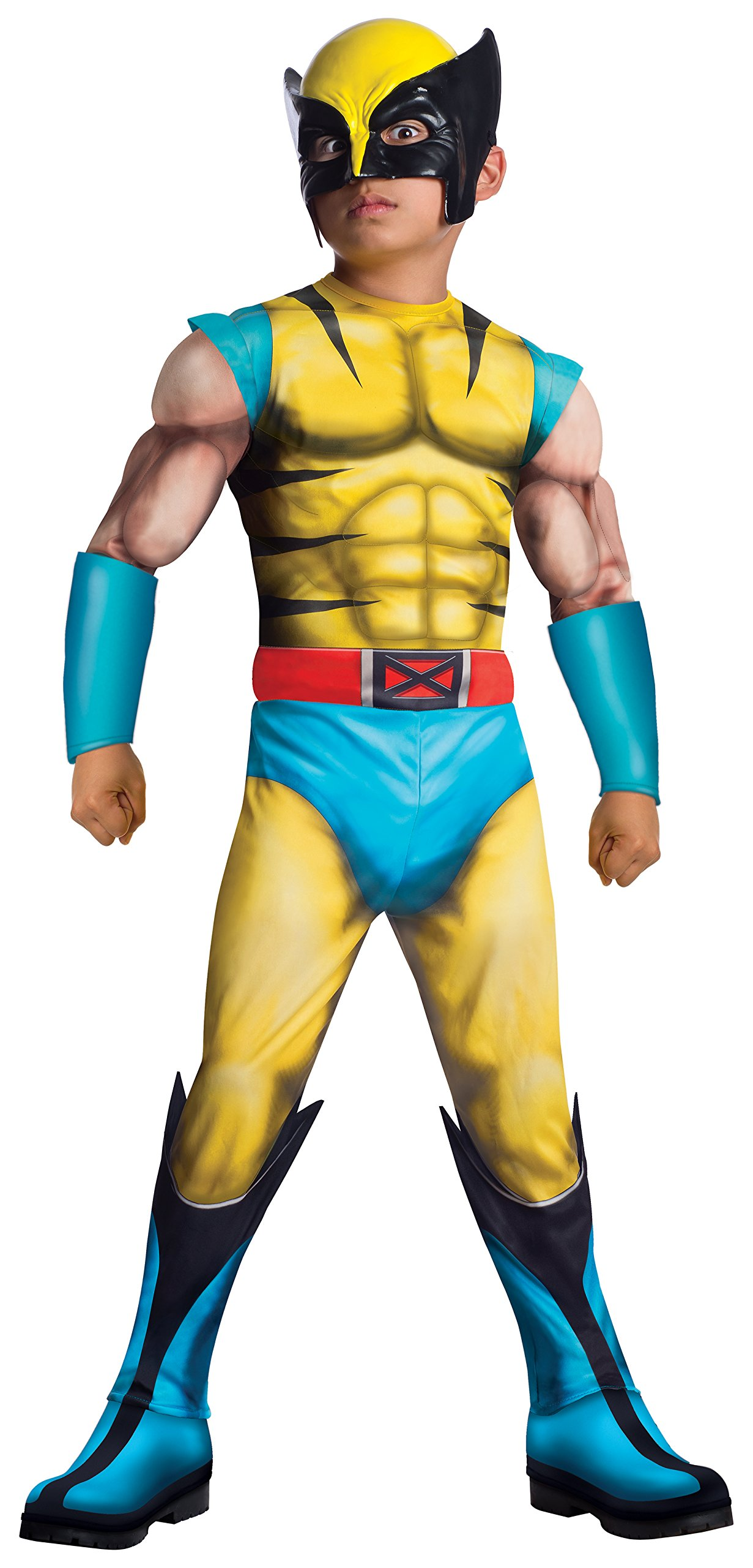 Rubie's Marvel Classic Universe Child's Deluxe Muscle-Chest Wolverine Costume, Medium