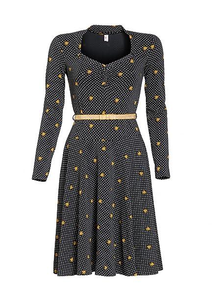 80b80e433e71 Blutsgeschwister Tidy and Polite Dress Kleid Damen - L  Amazon.de ...