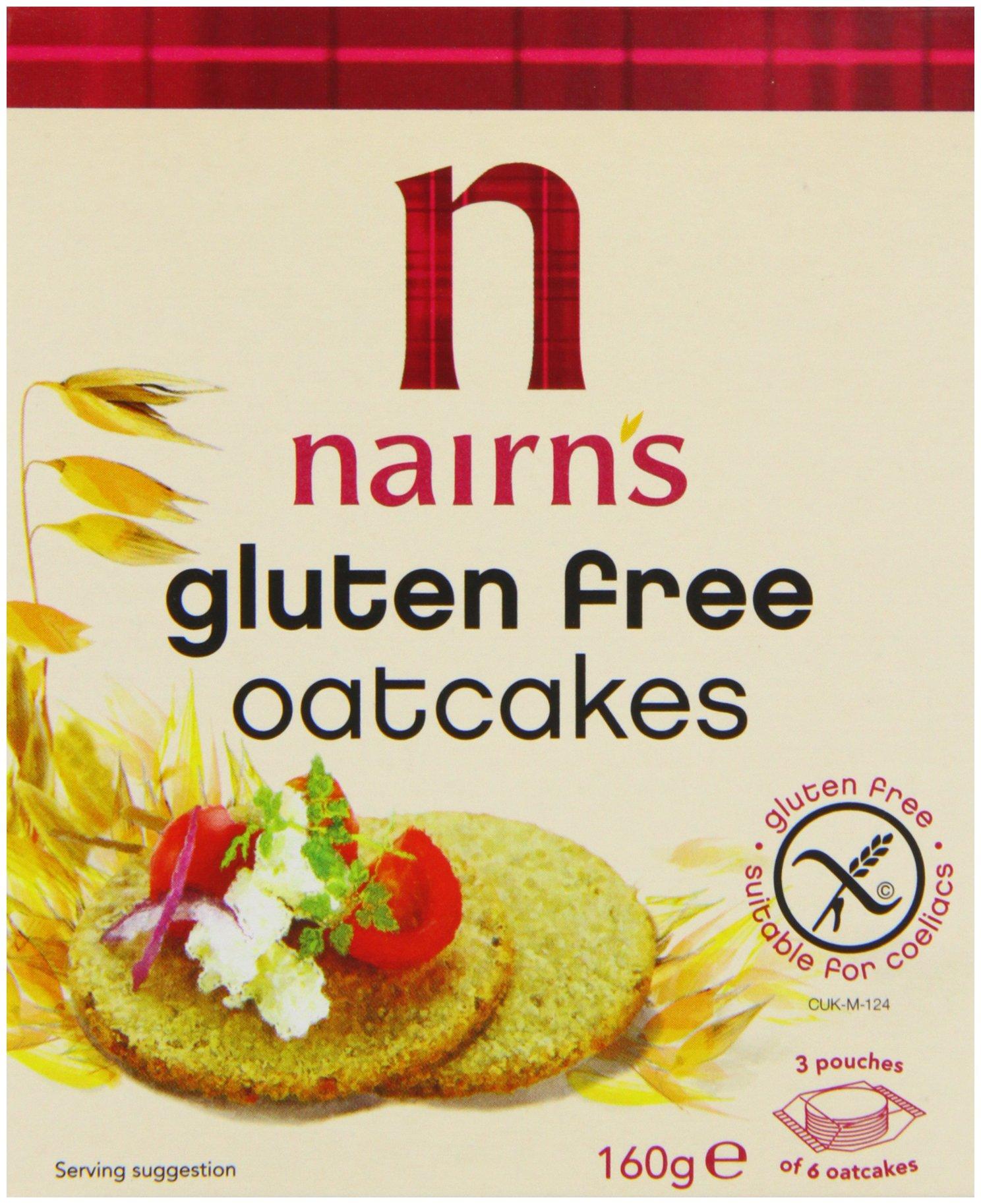 Nairn's Gluten Free Oatcake 160g - Pack of 6 by Nairn's