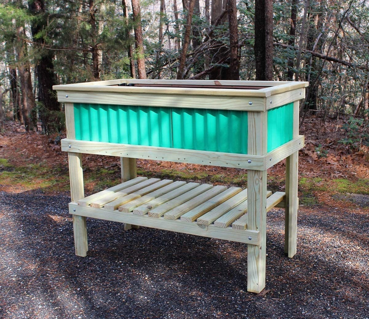 Amazon Com Woodworking Plans For A Large Raised Garden Planter