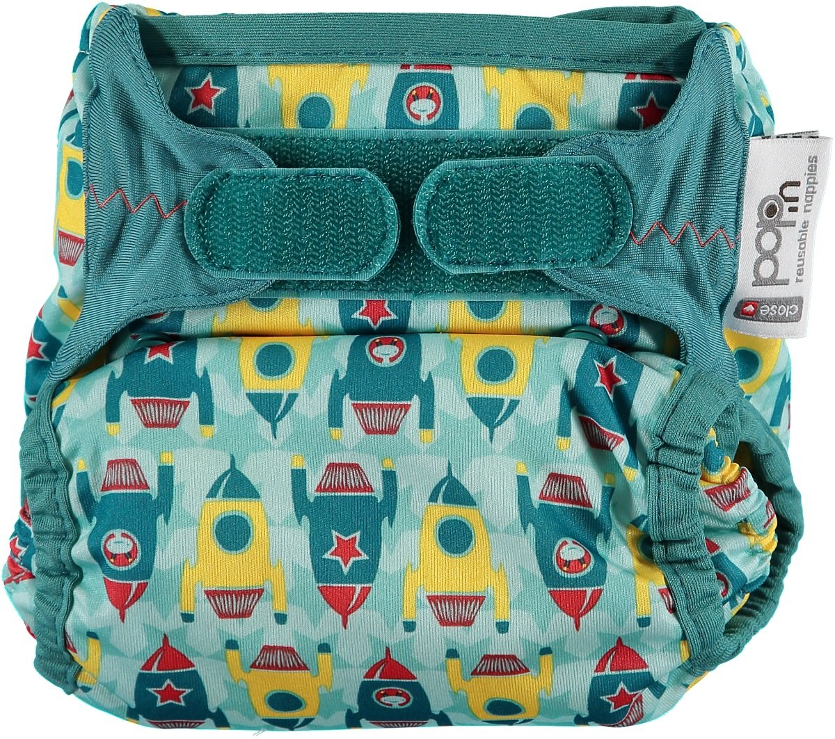 Close Pop-in 228175 Cloth diapers with bamboo suction pad, rockets