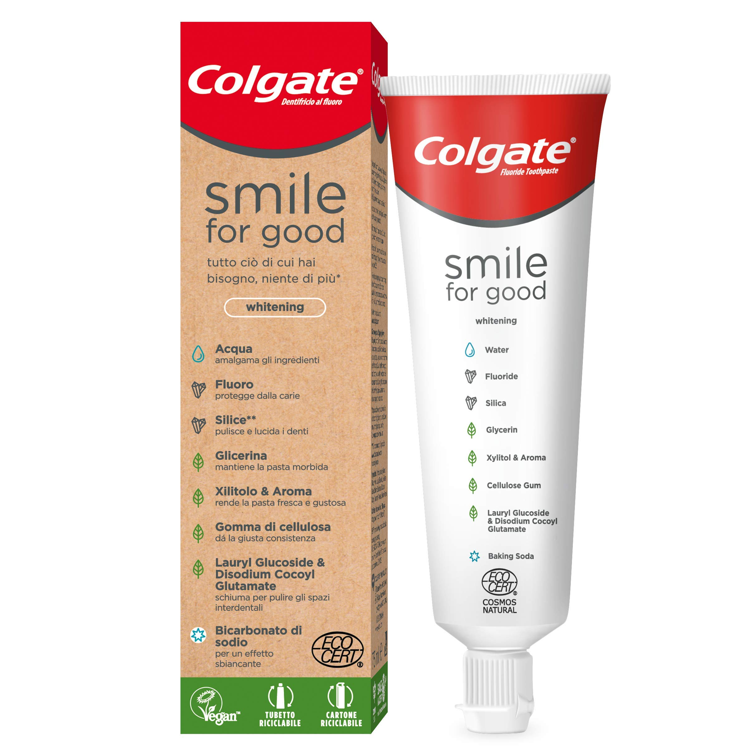 Colgate Smile For Good - Pasta dentífrica Vegan blanqueante, 75 ml