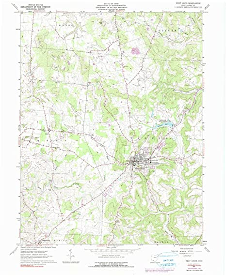 Union Ohio Map.Amazon Com Yellowmaps West Union Oh Topo Map 1 24000 Scale 7 5 X