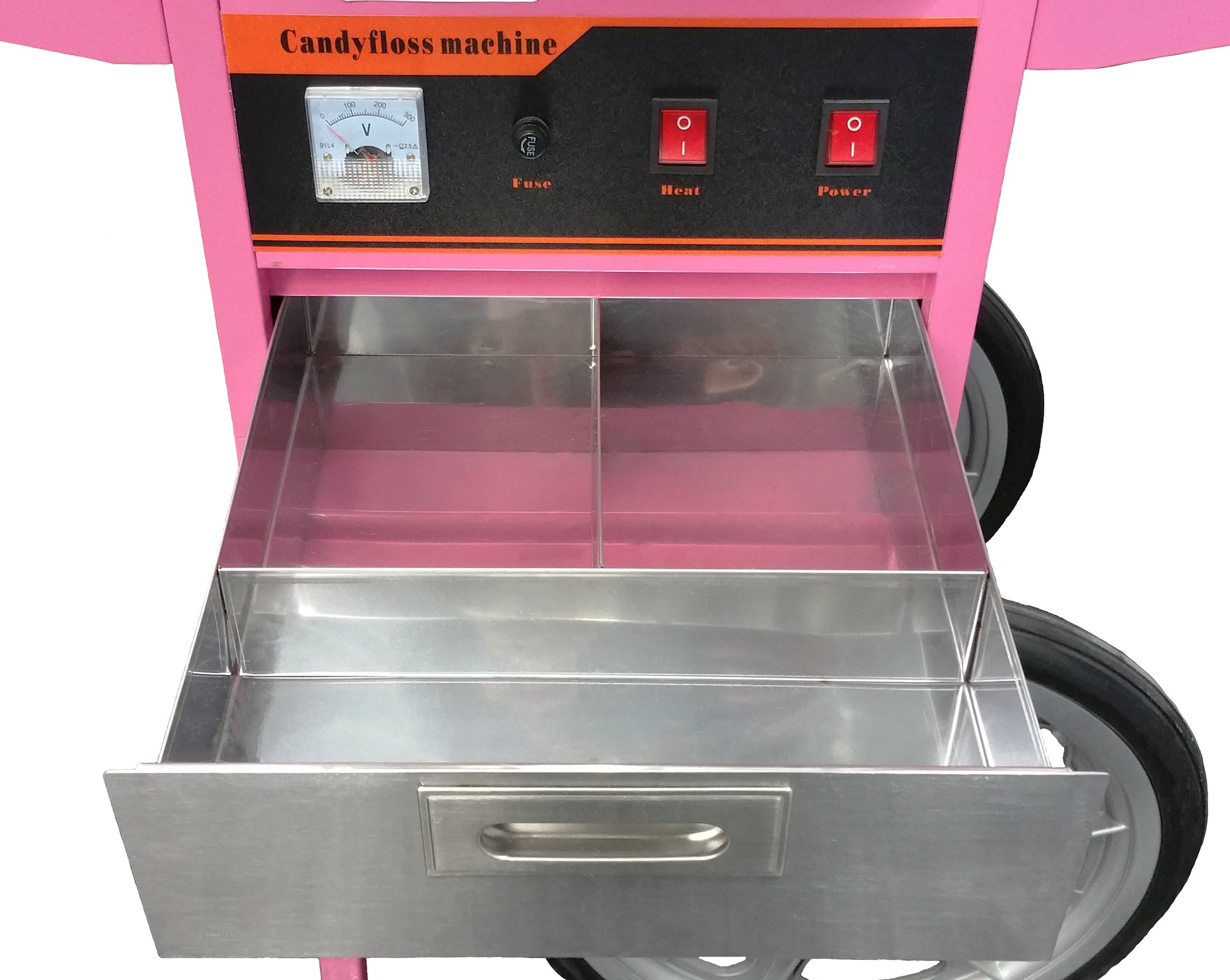 Electric Commercial Cotton Candy Machine / Candy Floss Maker Pink Cart Stand VIVO (CANDY-V002) by VIVO (Image #7)