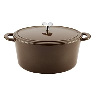 Ayesha Curry Kitchenware 47358 Home Collection Covered Dutch Oven, Medium, Brown Sugar