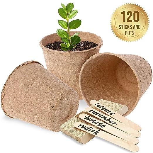 SpiffyJack - Macetas Redondas de Fibra biodegradables ...