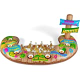 BigMouth Inc Floating Tiki Beverage Bar, Inflatable Pool Bar And Drink  Holder With Built In