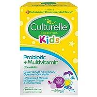 Culturelle Kids Probiotic plus Complete Multivitamin Chewable | Digestive and Immune...