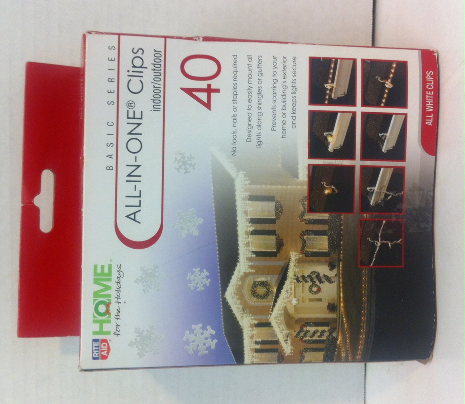 Home for the Holidays All-In-One Clips indoor/outdoor 40 Count