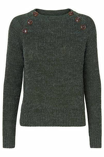 Vero Moda Blusas para Mujer Maglioncino con bottoni Vmjoya - Verde-M