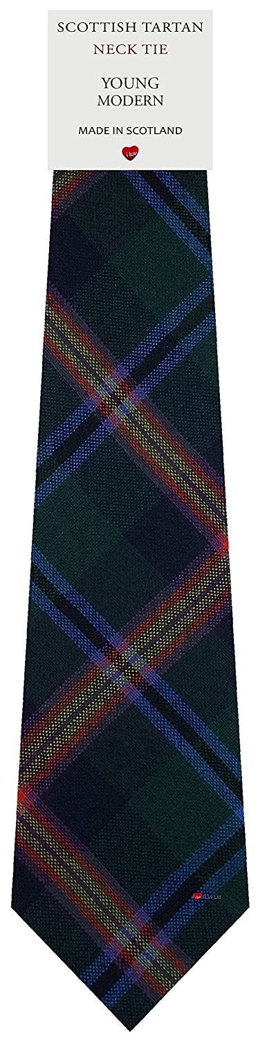 Mens Tie All Wool Made in Scotland Young Modern Tartan