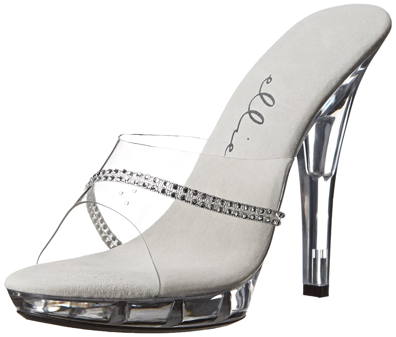 Ellie Shoes Women's M Jesse Platform Sandal B000BIWSH4 10 B(M) US|Clear
