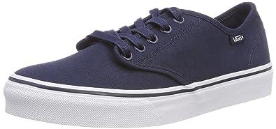 c8122210ff Vans Women s Camden Stripe Classic Low-Top Sneakers Blue ((Canvas) Navy 1X7