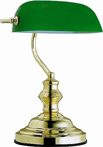 GLOBO lámpara de mesa verde antiguo banqueros lámpara 1x60W ...