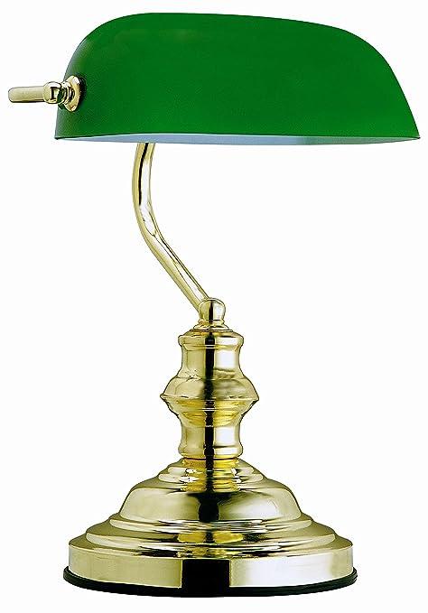 9 opinioni per Globo, Lampada da tavolo con paralume in vetro verde, 60 W, attacco E27, altezza