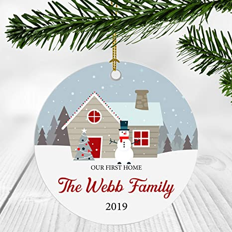 First Christmas In Our New Home 2019.Amazon Com First Christmas In Our New Home 2019 Ornament