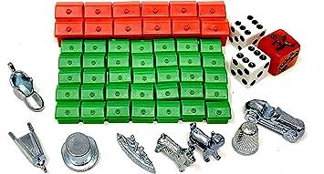 Monopoly Classic - Juego de accesorios para fotografía (35 casas, 12 hoteles, 3 dados, 8 figuras de metal): Amazon.es: Juguetes y juegos