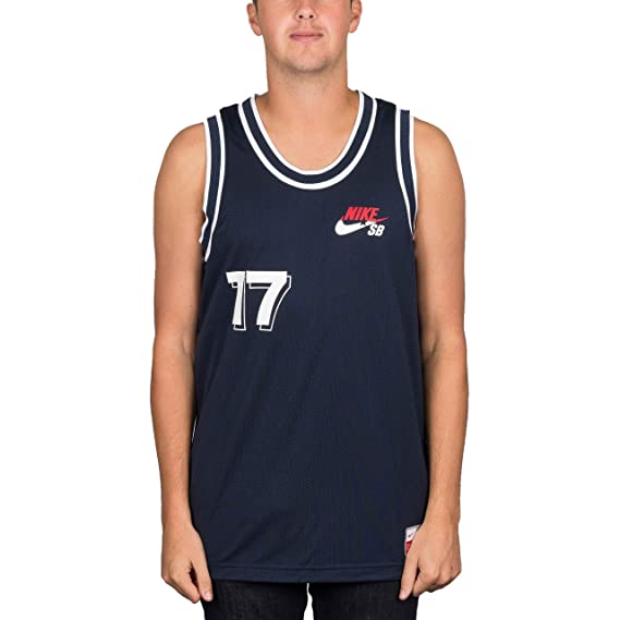 discount sale in stock new cheap Nike SB 'Court Jersey' Vest. Obsidian/White.: Amazon.fr ...
