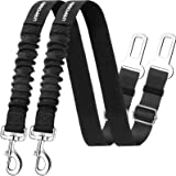 URPOWER Upgraded Dog Seat Belt 2 Pack Dog Car Seatbelts Adjustable Pet Seat Belt for Vehicle Nylon Pet Safety Seat Belts…