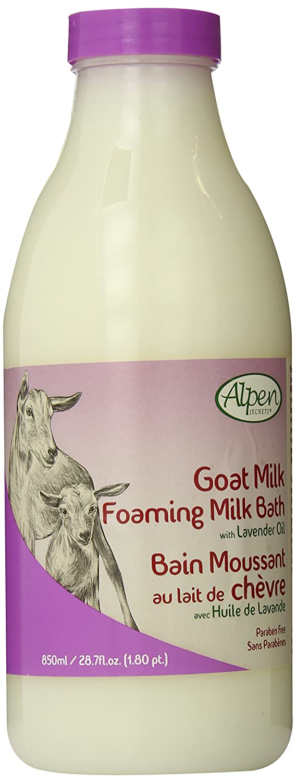 ALPEN SECRETS Goat Milk with Lavender Oil Foaming Milk Bath (Pack of 2), 4.06 pounds