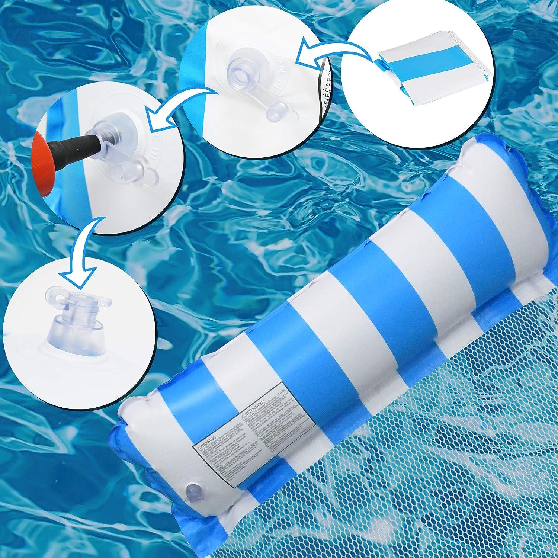 4-in-1 Multi-Purpose Water Hammock with Manual Air Pump and Arm ...