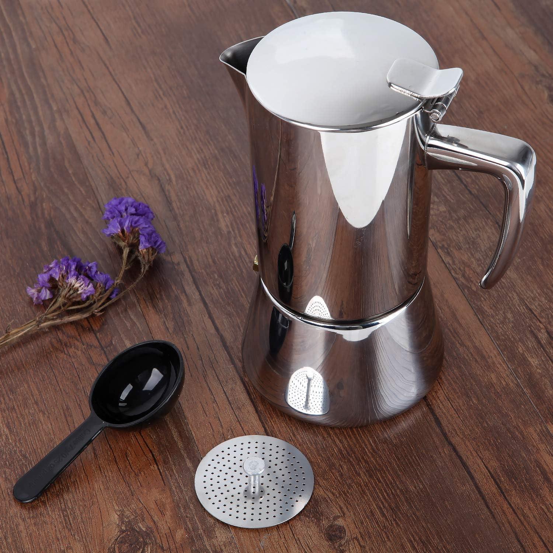 Honsdom Cafetera de inducción Italiana Cafetera Espressos en Acero ...