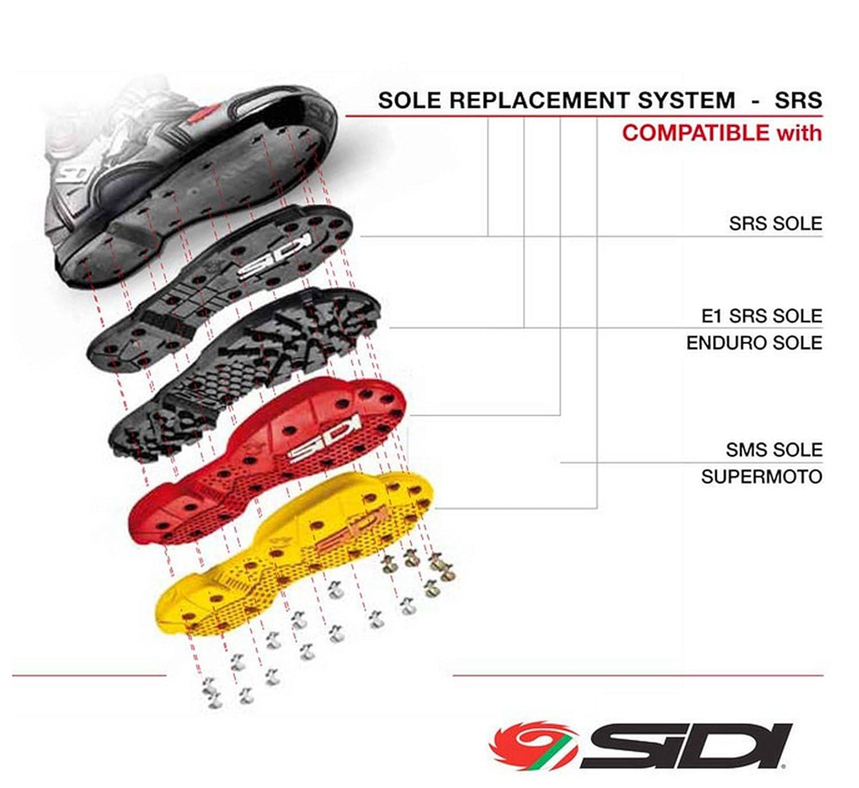 SIDI SRS Supermoto Sohle rot - Standard Paar SRS SRS SRS Ersatz Sohle Größe 40-42 5a1f03