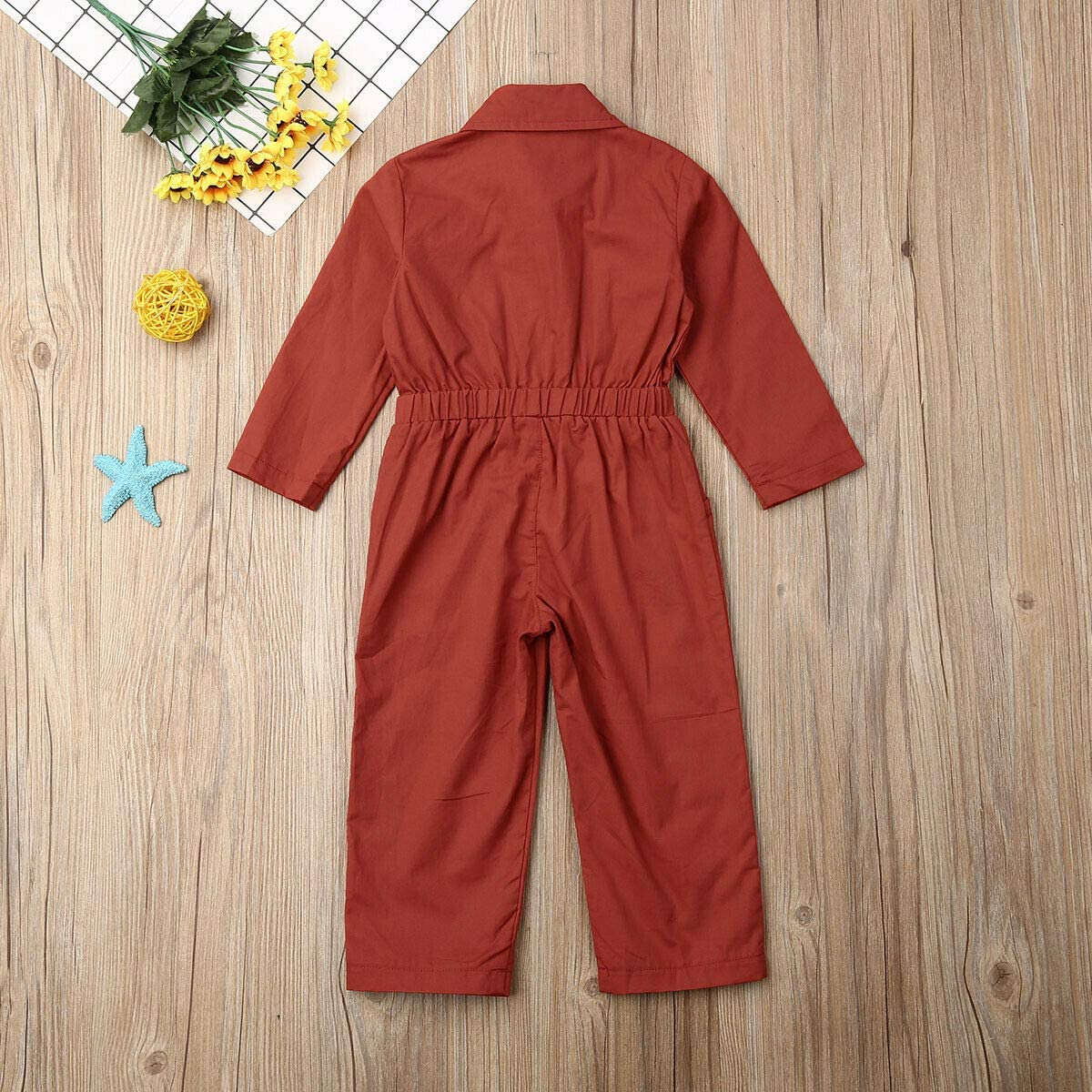 Toddler Baby Jumpsuit Solid Color Button Romper Bodysuit Cool Kids Fall Winter One-Piece Coverall Clothes Outfits