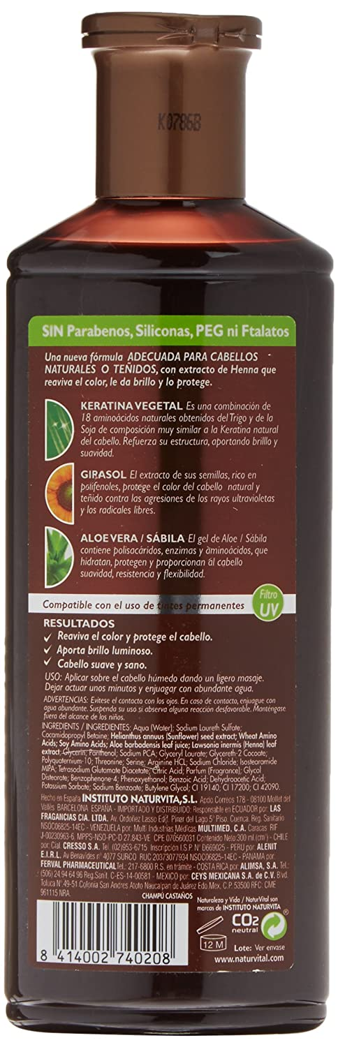 Naturaleza y Vida Champú Color Castaño - 300 ml