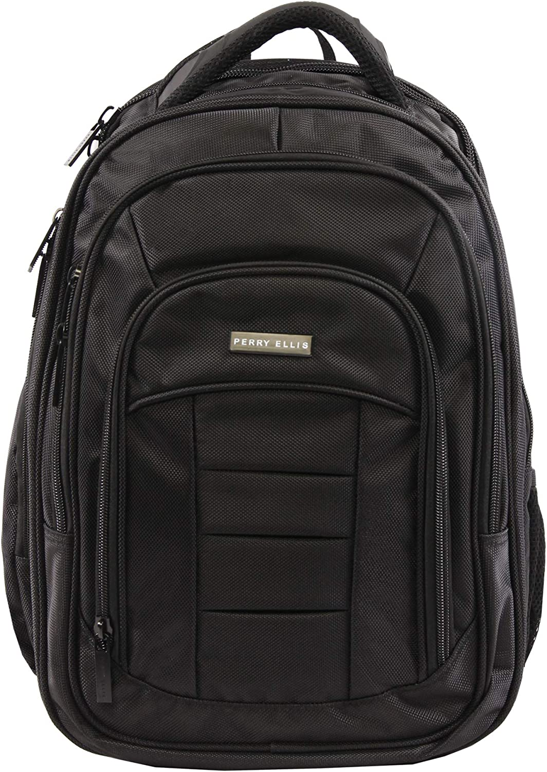 Perry Ellis Men's M150 Business Laptop Backpack, Black, One Size